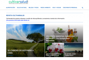 revista cultivarsalud, medio ambiente, coaching, medicina alternativa, etc