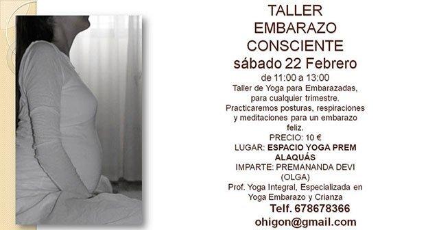 Taller de Yoga para embarazadas en Alaquas Valencia
