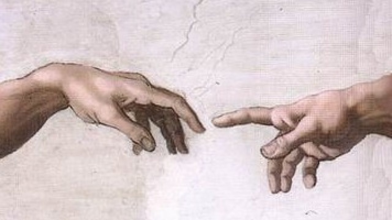 The Sistine Chapel ceiling painted by Michelangelo