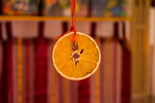 frutas de color naranja