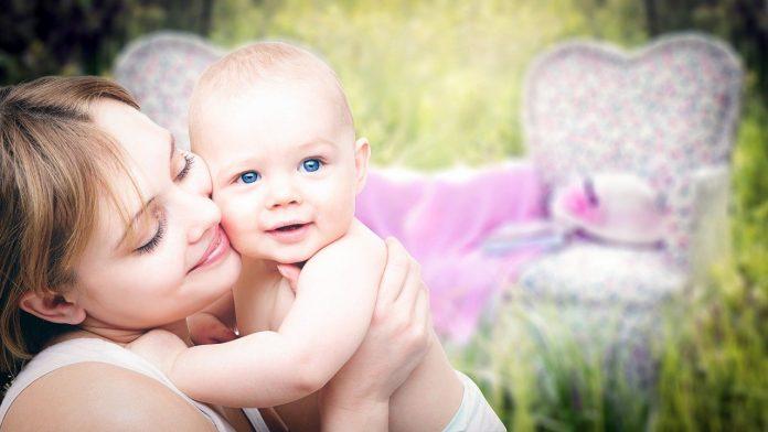 Una madre feliz