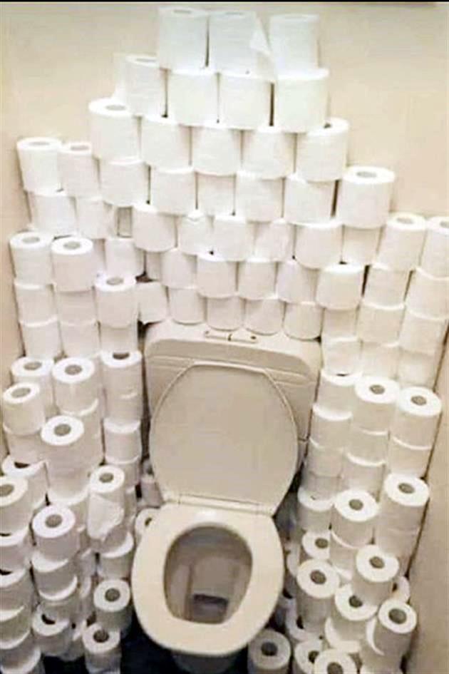 Y yo sin papel higiénico